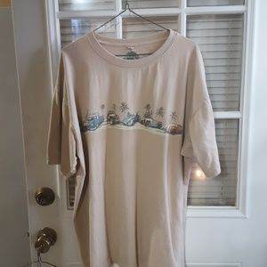 Classic cars on mens tee shirt